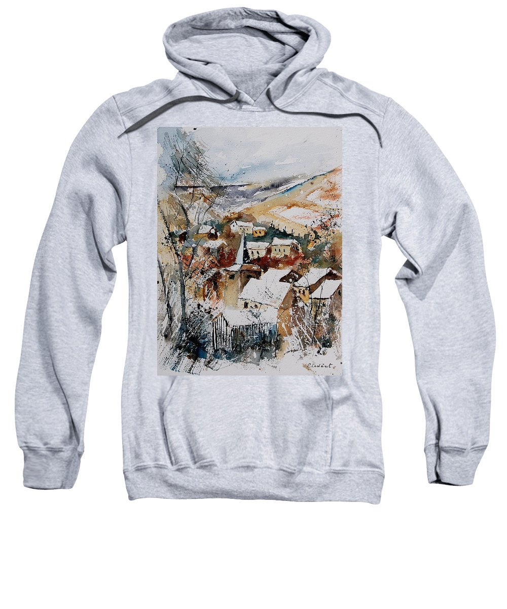 Winter Sweatshirt featuring the painting Watercolor 904002 by Pol Ledent