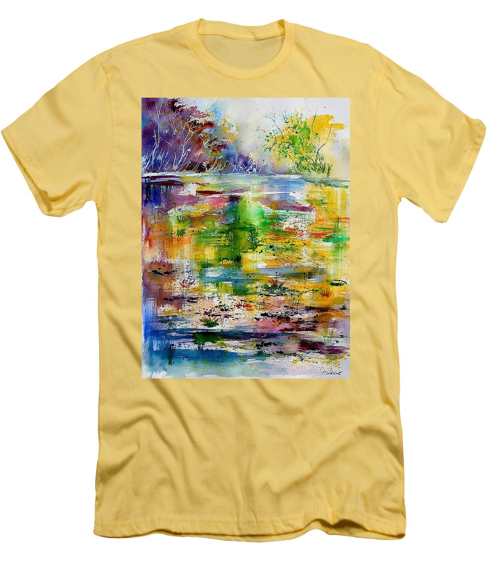 Water Men's T-Shirt (Athletic Fit) featuring the painting Watercolor 6878 by Pol Ledent