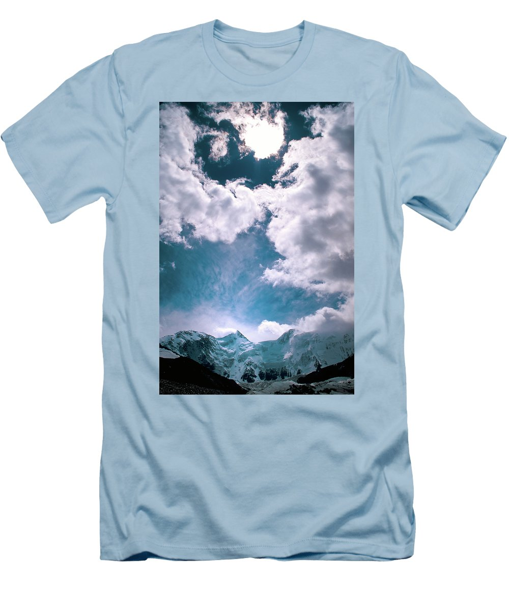 Alone Men's T-Shirt (Athletic Fit) featuring the photograph Sacred Belukha by Konstantin Dikovsky