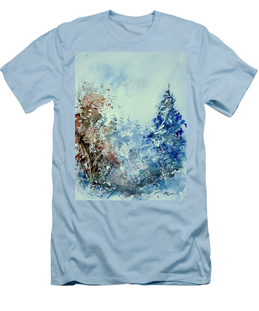Tree Men's T-Shirt (Athletic Fit) featuring the painting Watercolor 010307 by Pol Ledent