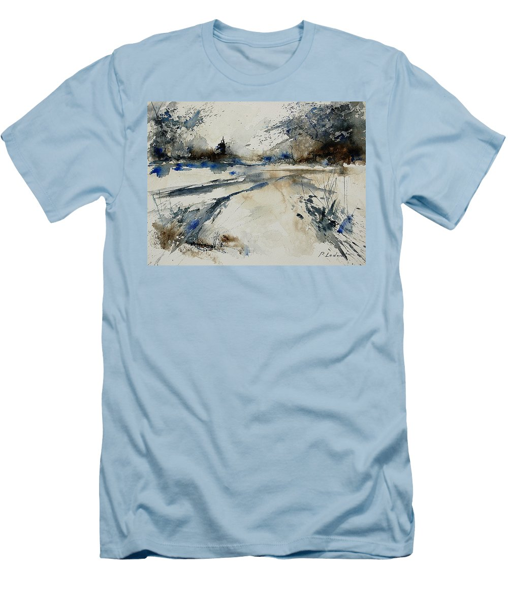 Winter Men's T-Shirt (Athletic Fit) featuring the painting Watercolor 240906 by Pol Ledent