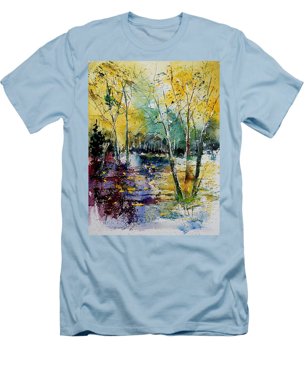 Water Men's T-Shirt (Athletic Fit) featuring the painting Watercolor 280808 by Pol Ledent