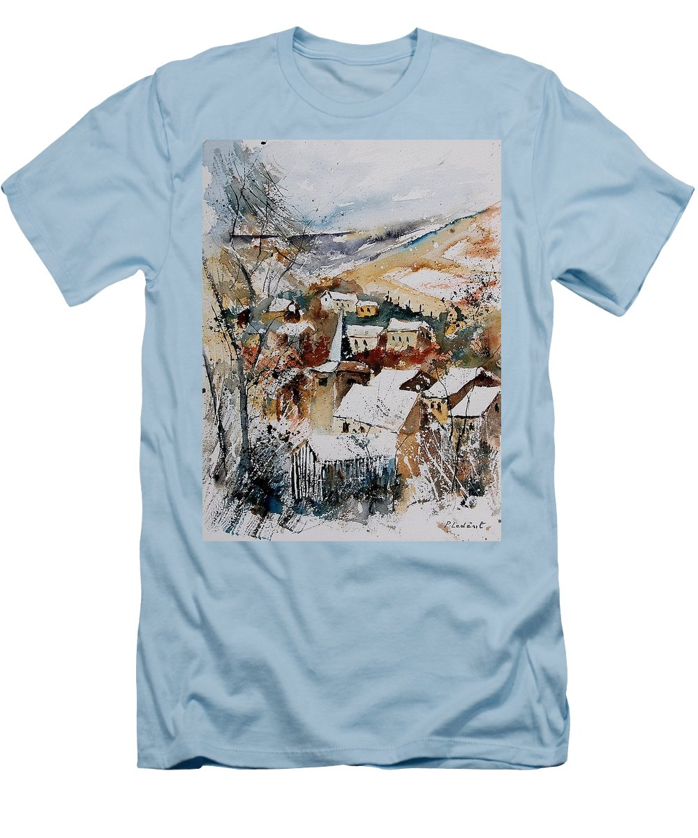 Winter Men's T-Shirt (Athletic Fit) featuring the painting Watercolor 904002 by Pol Ledent