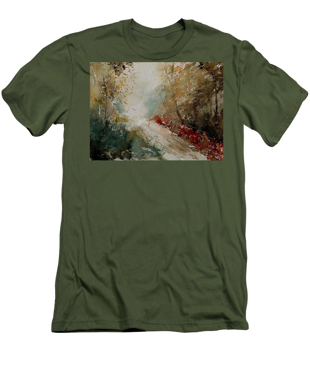 Tree Men's T-Shirt (Athletic Fit) featuring the painting Watercolor 311005 by Pol Ledent