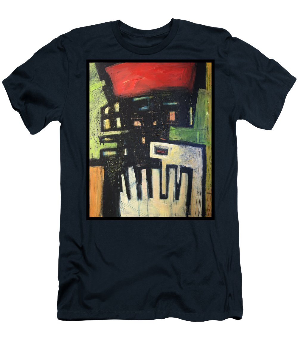 Abstract Men's T-Shirt (Athletic Fit) featuring the painting D Flat by Tim Nyberg