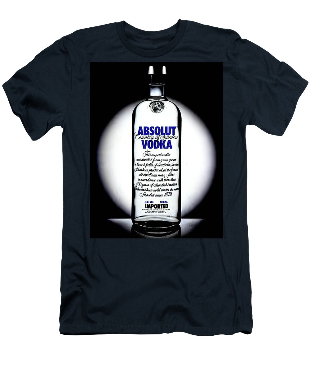Absolut Vodka Men's T-Shirt (Athletic Fit) featuring the painting Absolut Vodka by Luis Ludzska