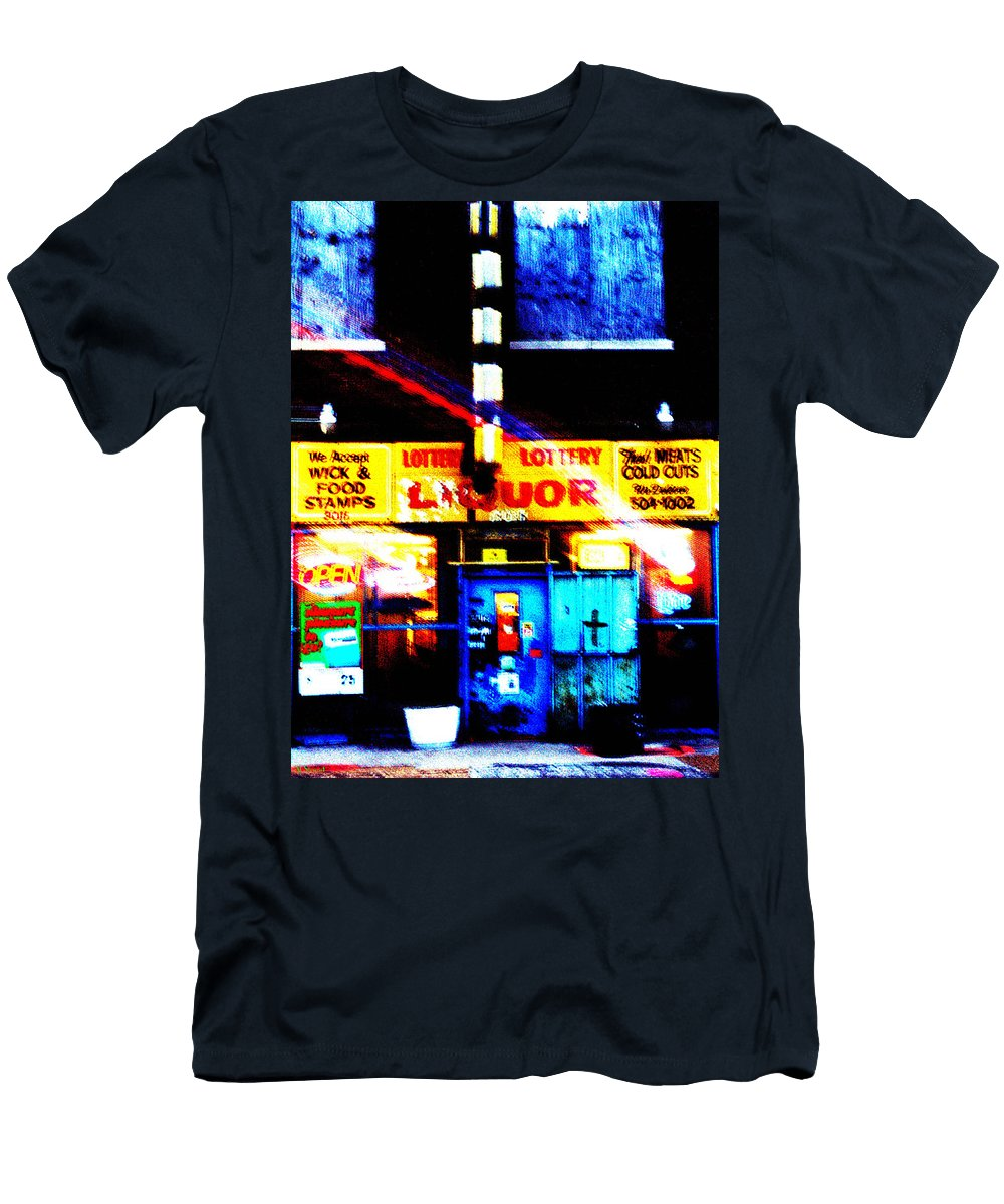 Store Men's T-Shirt (Athletic Fit) featuring the photograph Corner Store by Albert Stewart