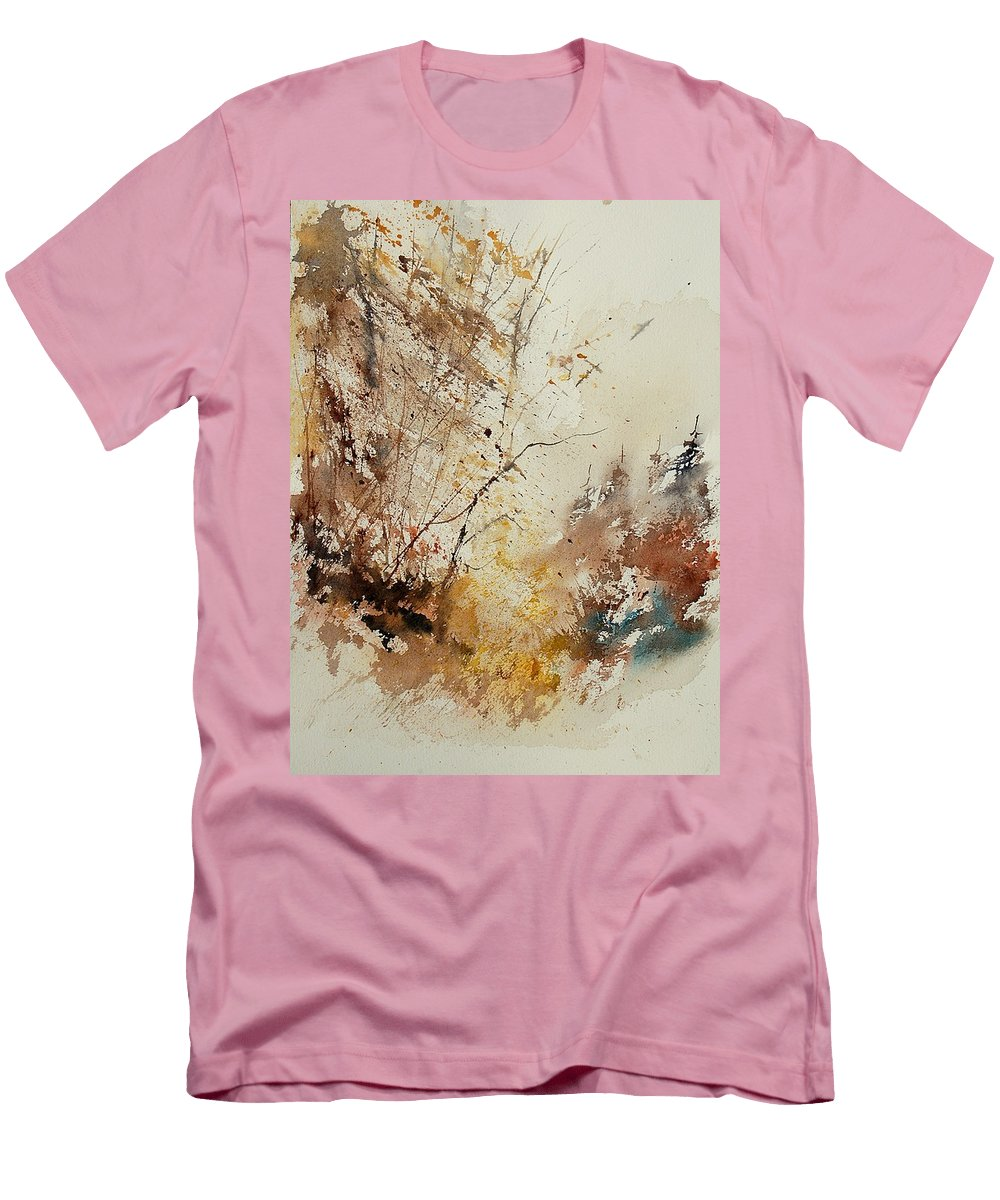 Tree Men's T-Shirt (Athletic Fit) featuring the painting Watercolor 903012 by Pol Ledent
