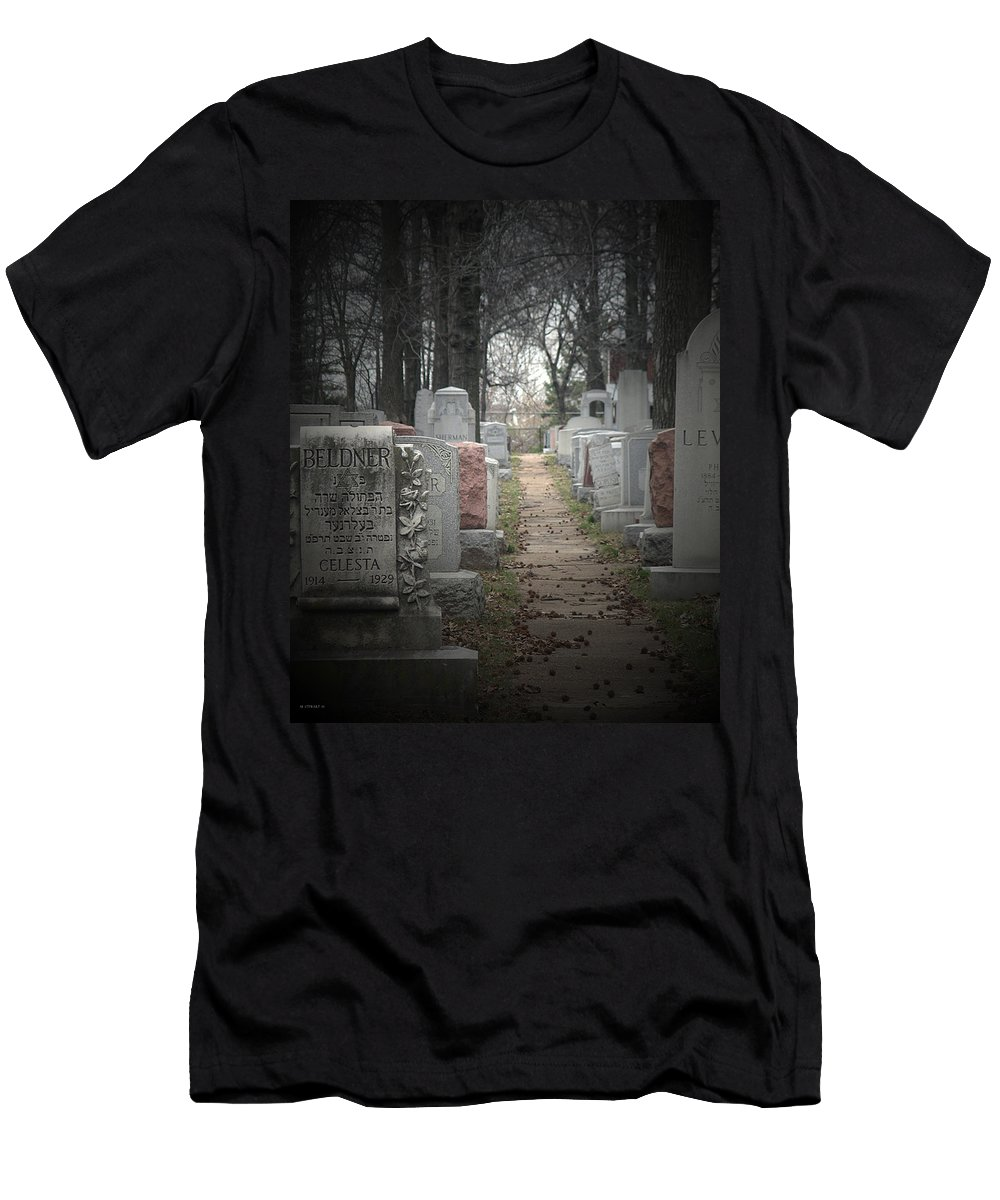 Cemetary Men's T-Shirt (Athletic Fit) featuring the photograph Closure by Albert Stewart