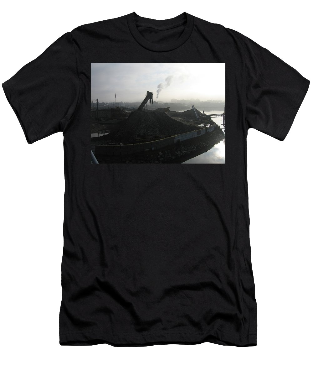 Photograph Ship Yard Ocean Water Victoria Men's T-Shirt (Athletic Fit) featuring the photograph Shipyard by Seon-Jeong Kim