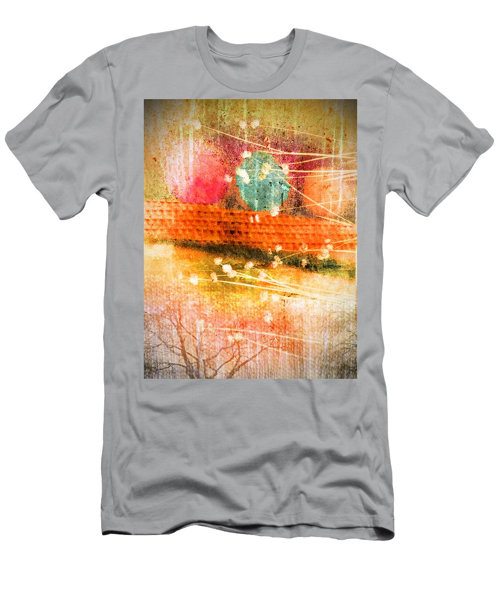 Branches Men's T-Shirt (Athletic Fit) featuring the photograph Branches And Brush Strokes by Tara Turner