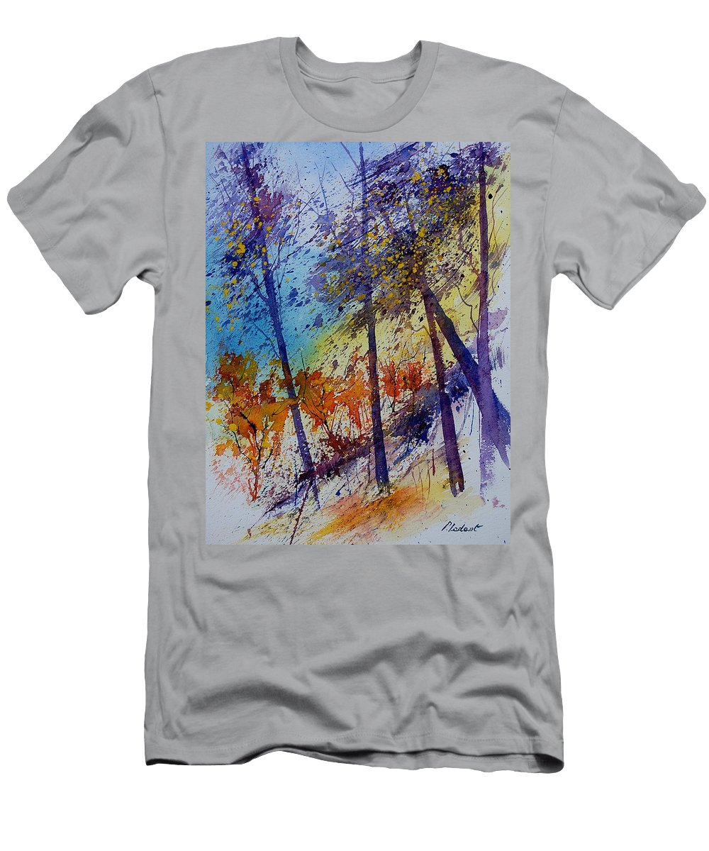 Spring Men's T-Shirt (Athletic Fit) featuring the painting Watercolor 131108 by Pol Ledent