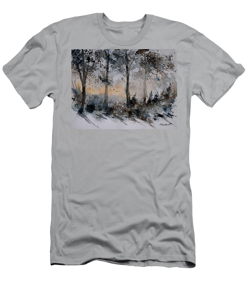 Tree Men's T-Shirt (Athletic Fit) featuring the painting Watercolor 141206 by Pol Ledent