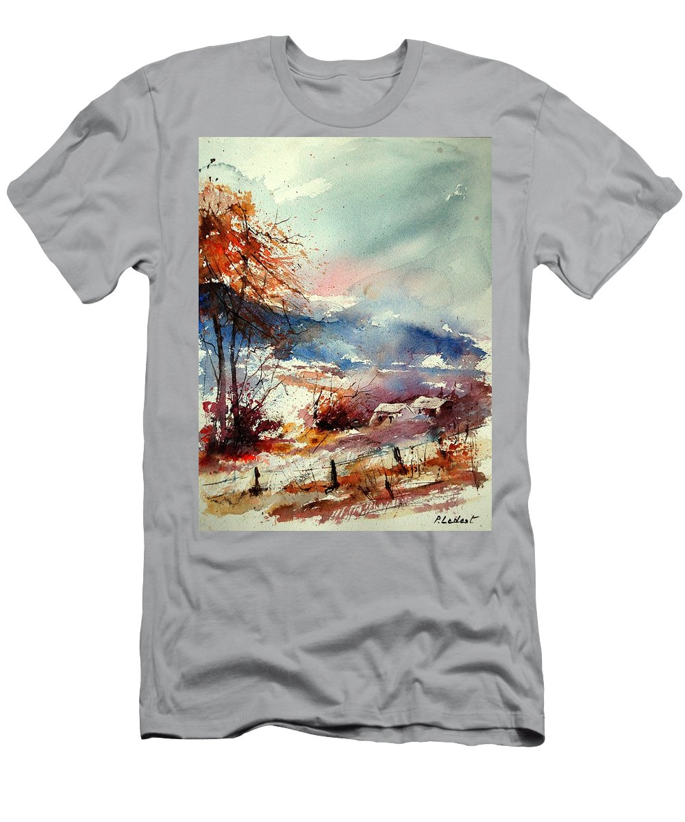 Winter Men's T-Shirt (Athletic Fit) featuring the painting Watercolor 221108 by Pol Ledent