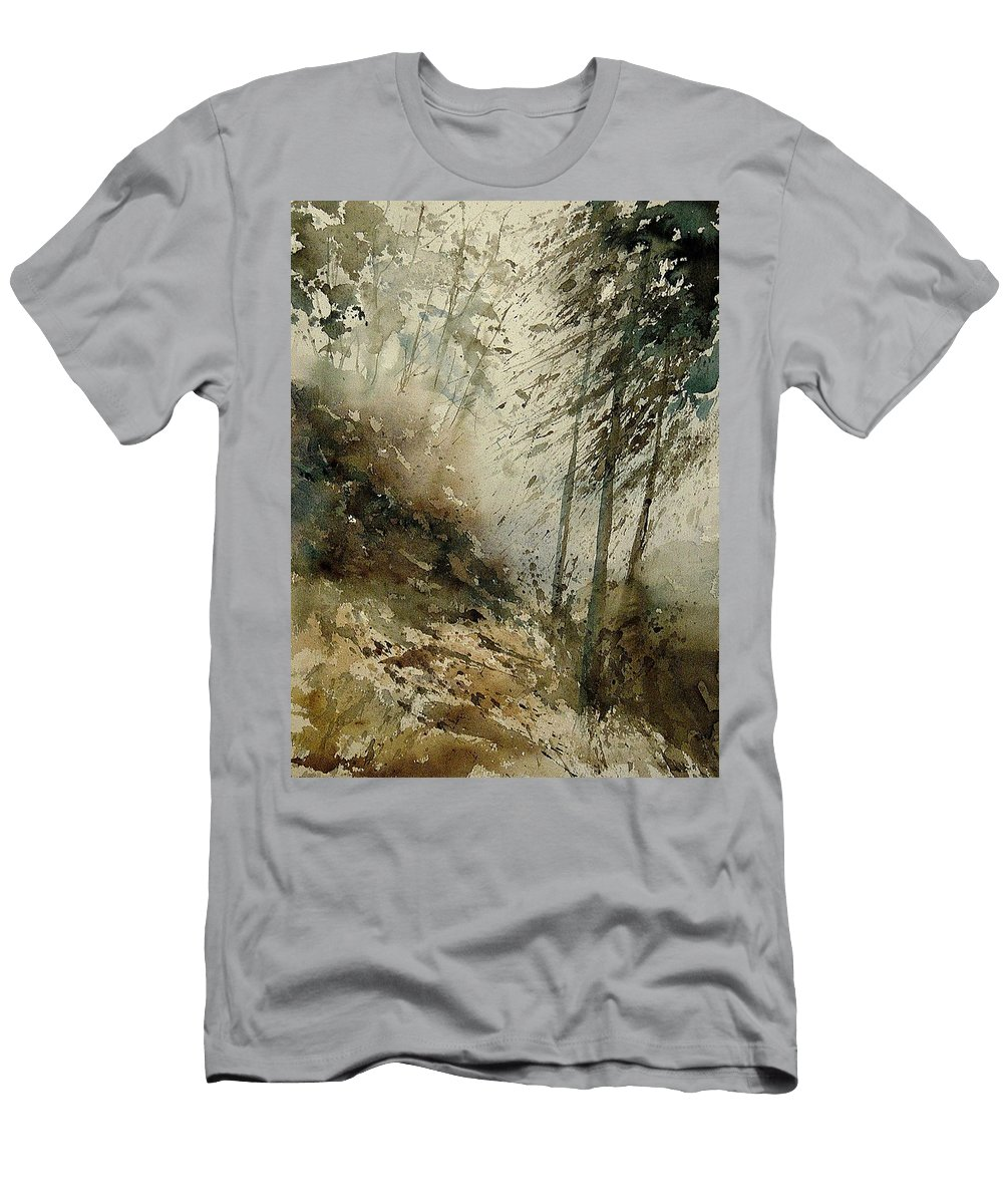 Tree Men's T-Shirt (Athletic Fit) featuring the painting Watercolor 271005 by Pol Ledent