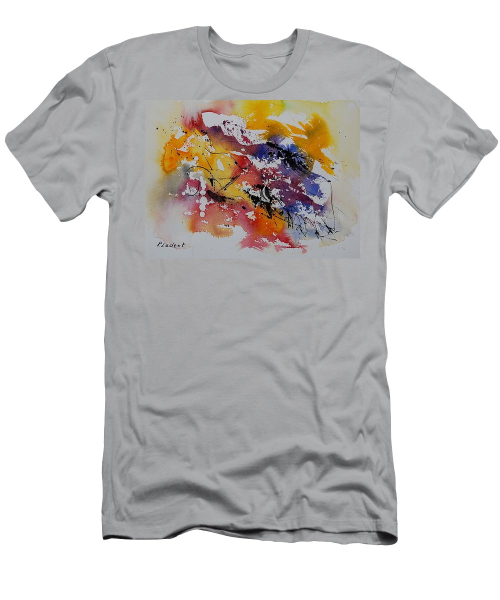 Abstract Men's T-Shirt (Athletic Fit) featuring the painting Watercolor 902022 by Pol Ledent