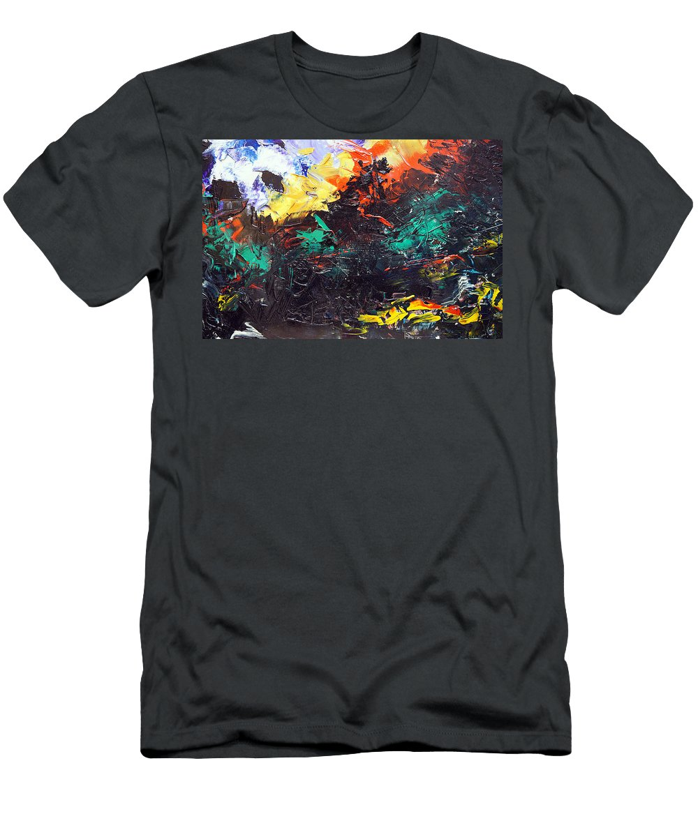 Vision Men's T-Shirt (Athletic Fit) featuring the painting Schizophrenia by Sergey Bezhinets