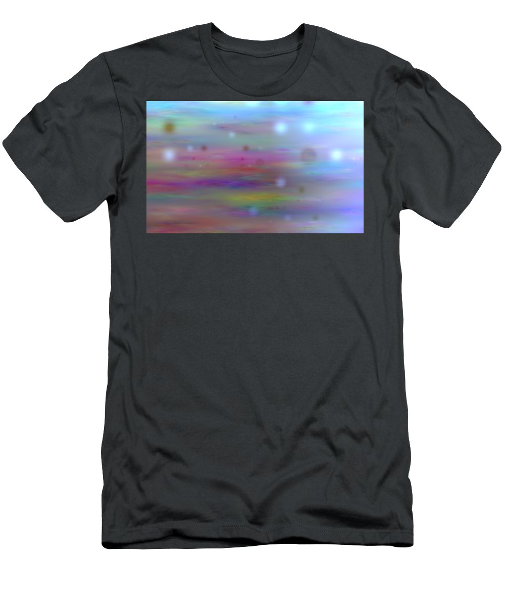 Art Digital Art Men's T-Shirt (Athletic Fit) featuring the digital art Colour11mlv - Impressions by Alex Porter