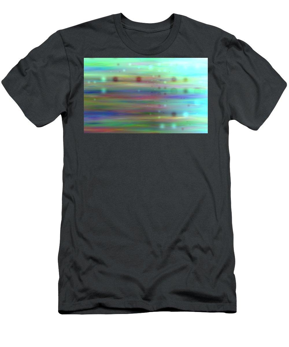 Art Digital Art Men's T-Shirt (Athletic Fit) featuring the digital art Colour16mlv - Impressions by Alex Porter