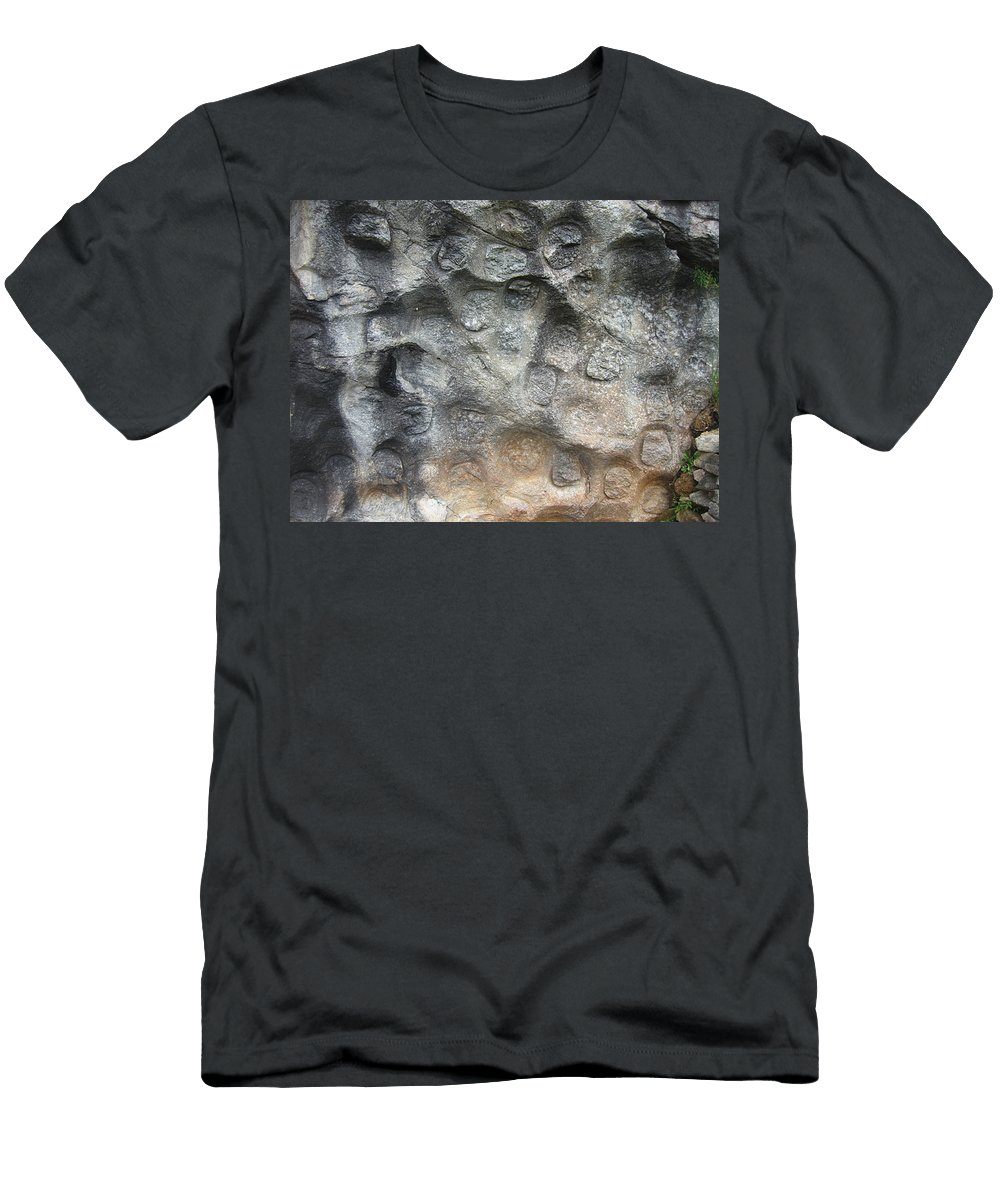 Photograph Softstone Soft Stone Newfoundland Atlantic Baieverte Men's T-Shirt (Athletic Fit) featuring the photograph Softstone by Seon-Jeong Kim