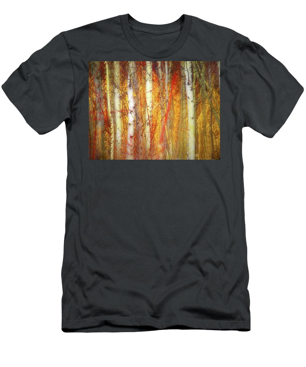Trees Men's T-Shirt (Athletic Fit) featuring the photograph Strange Forest by Tara Turner
