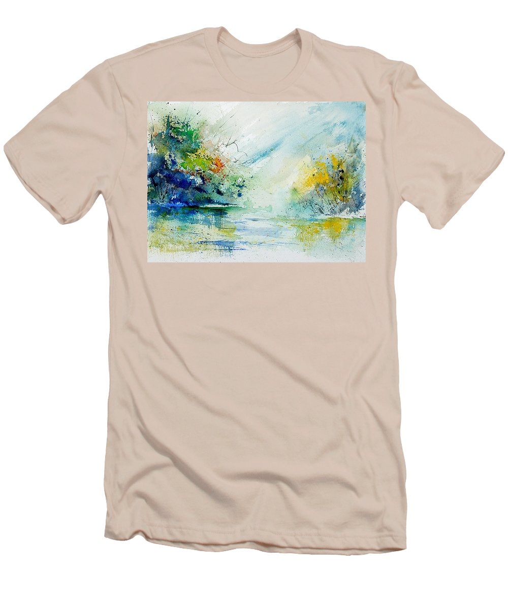 Water Men's T-Shirt (Athletic Fit) featuring the painting Watercolor 903022 by Pol Ledent