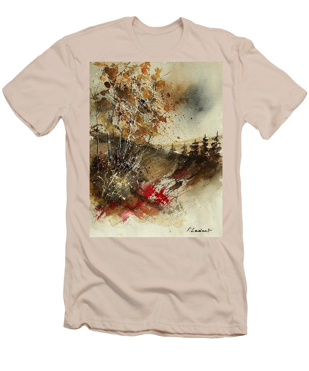 Tree Men's T-Shirt (Athletic Fit) featuring the painting Watercolor 903052 by Pol Ledent