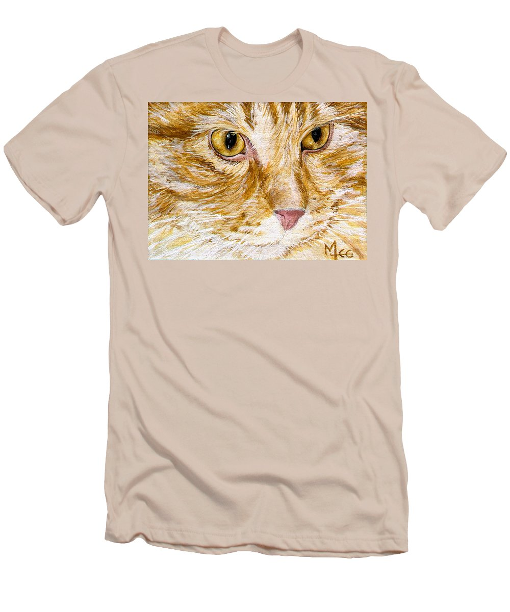 Charity Men's T-Shirt (Athletic Fit) featuring the painting Leo by Mary-Lee Sanders