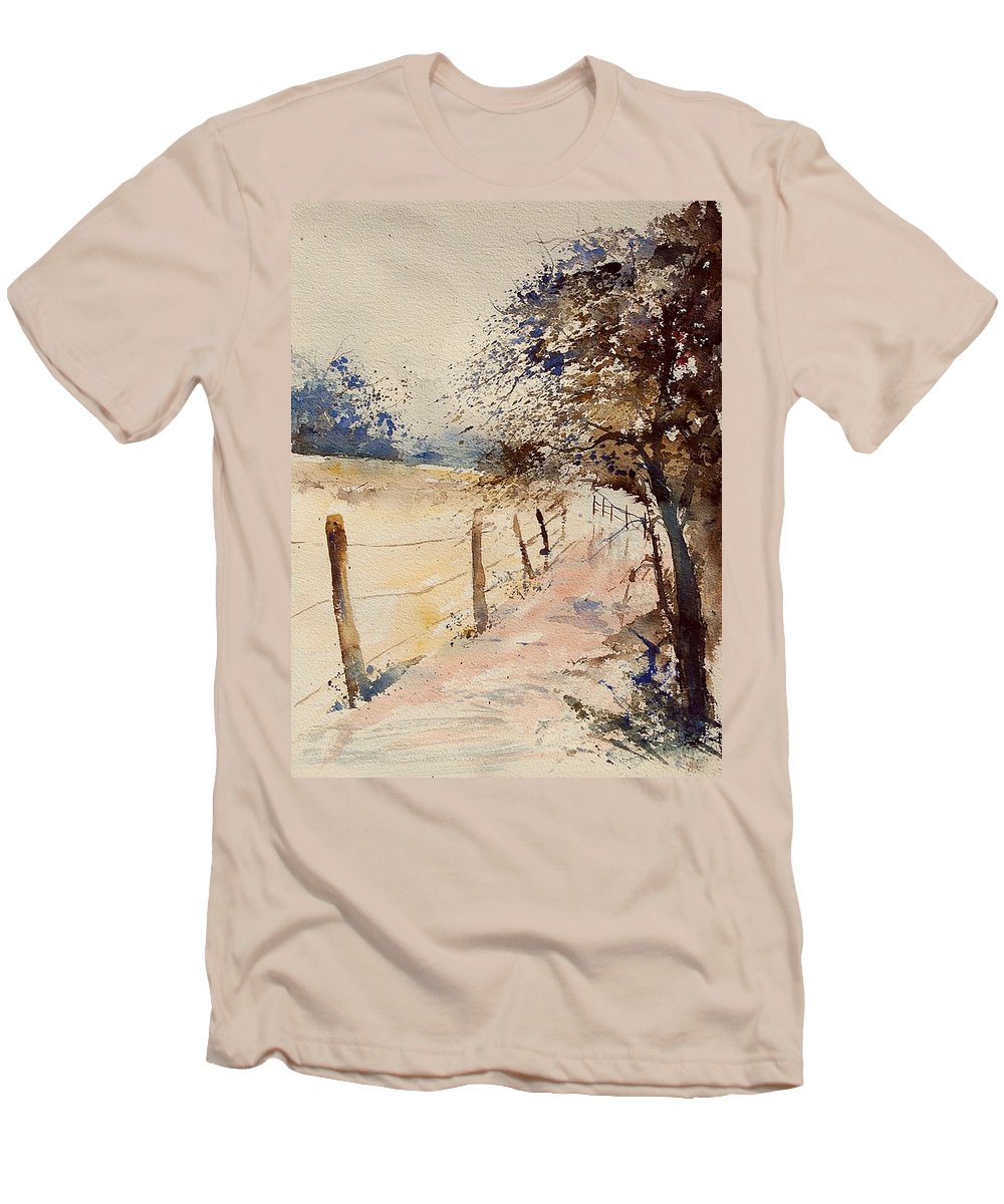 Tree Men's T-Shirt (Athletic Fit) featuring the painting Watercolor 041106 by Pol Ledent