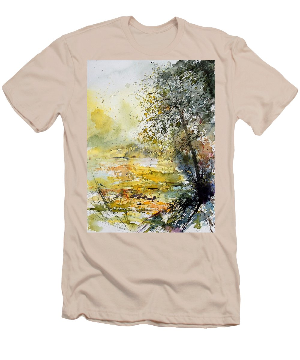 Water Men's T-Shirt (Athletic Fit) featuring the painting Watercolor 050906 by Pol Ledent