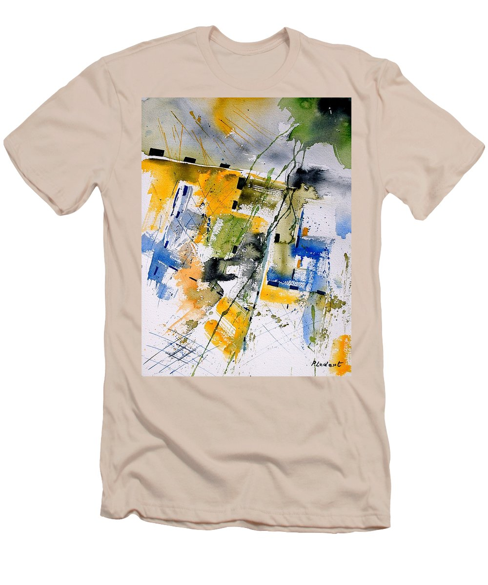Abstract Men's T-Shirt (Athletic Fit) featuring the painting Watercolor 161106 by Pol Ledent