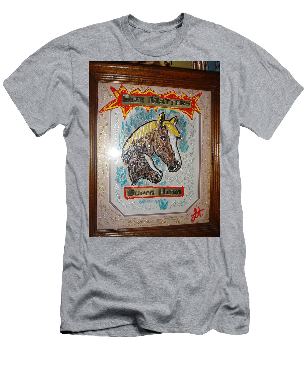 Horses Men's T-Shirt (Athletic Fit) featuring the painting Horses by Lisa Piper