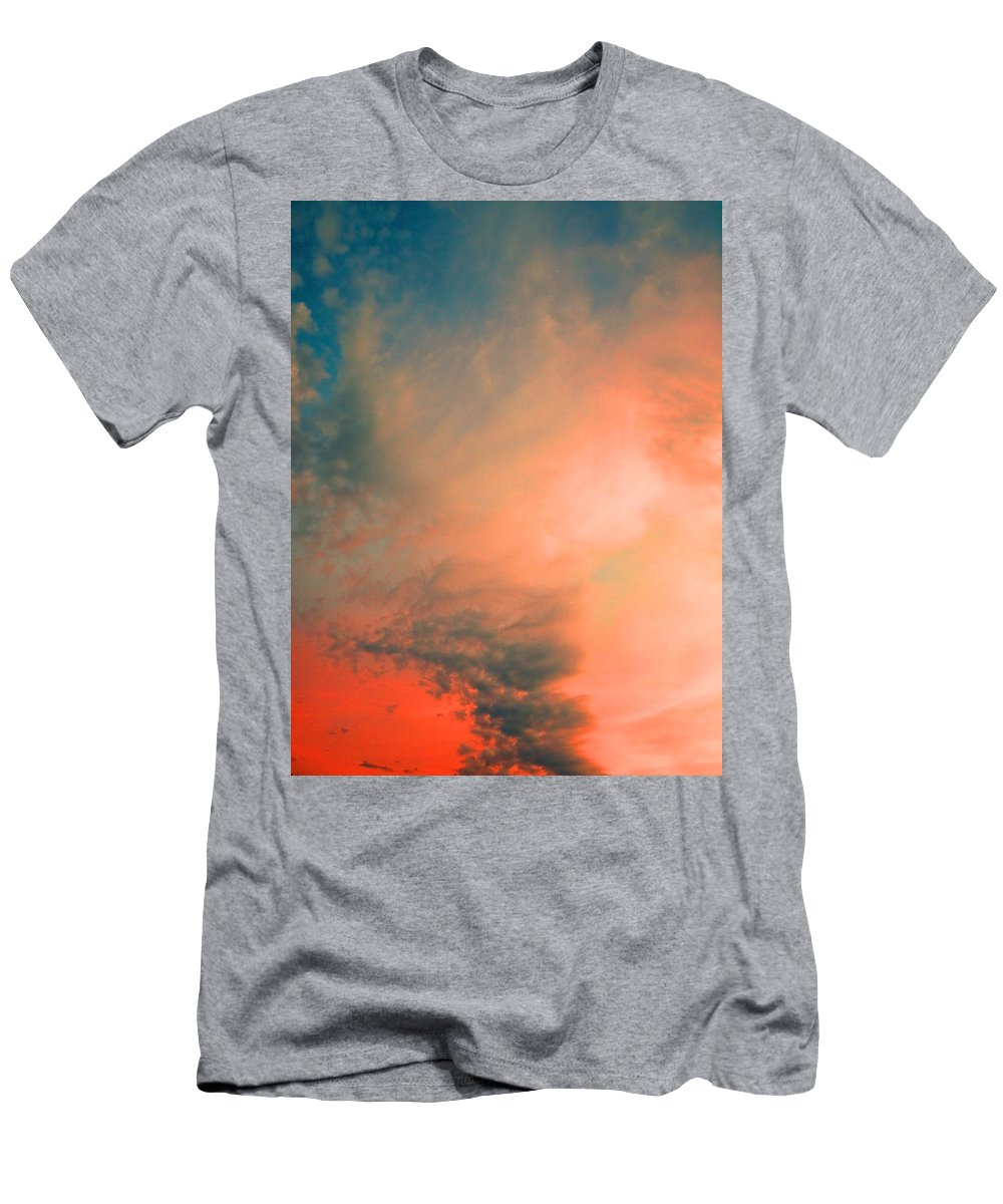 Clouds Men's T-Shirt (Athletic Fit) featuring the photograph The Explosion by Tara Turner