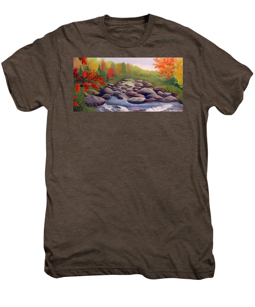 Rick Huotari Men's Premium T-Shirt featuring the painting Cherokee Park by Rick Huotari