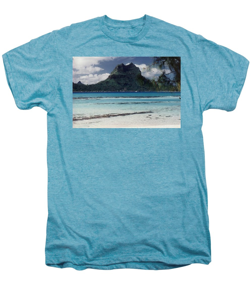 Charity Men's Premium T-Shirt featuring the photograph Bora Bora by Mary-Lee Sanders