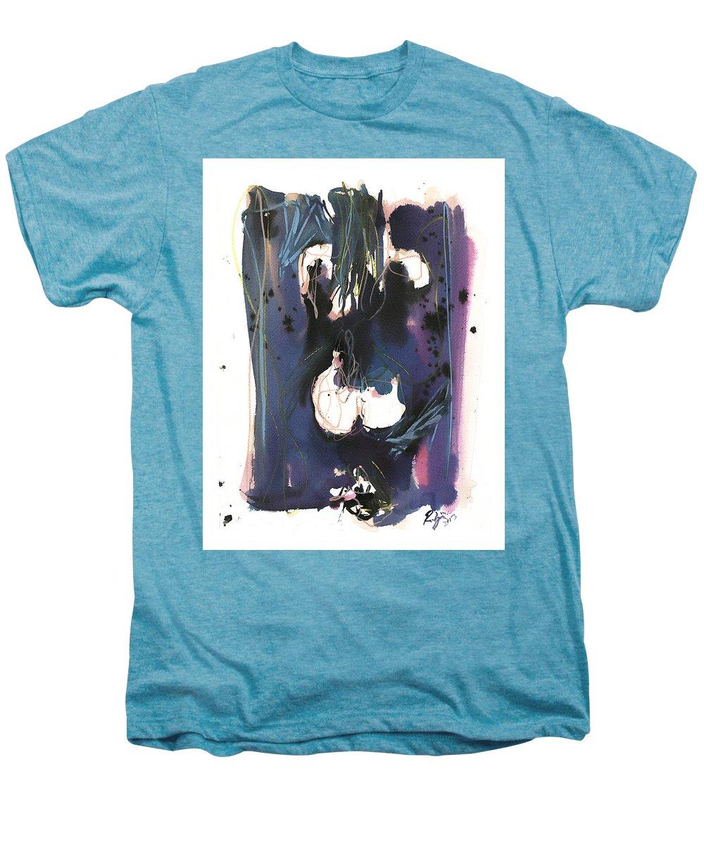 Figure Men's Premium T-Shirt featuring the painting Kneeling by Robert Joyner