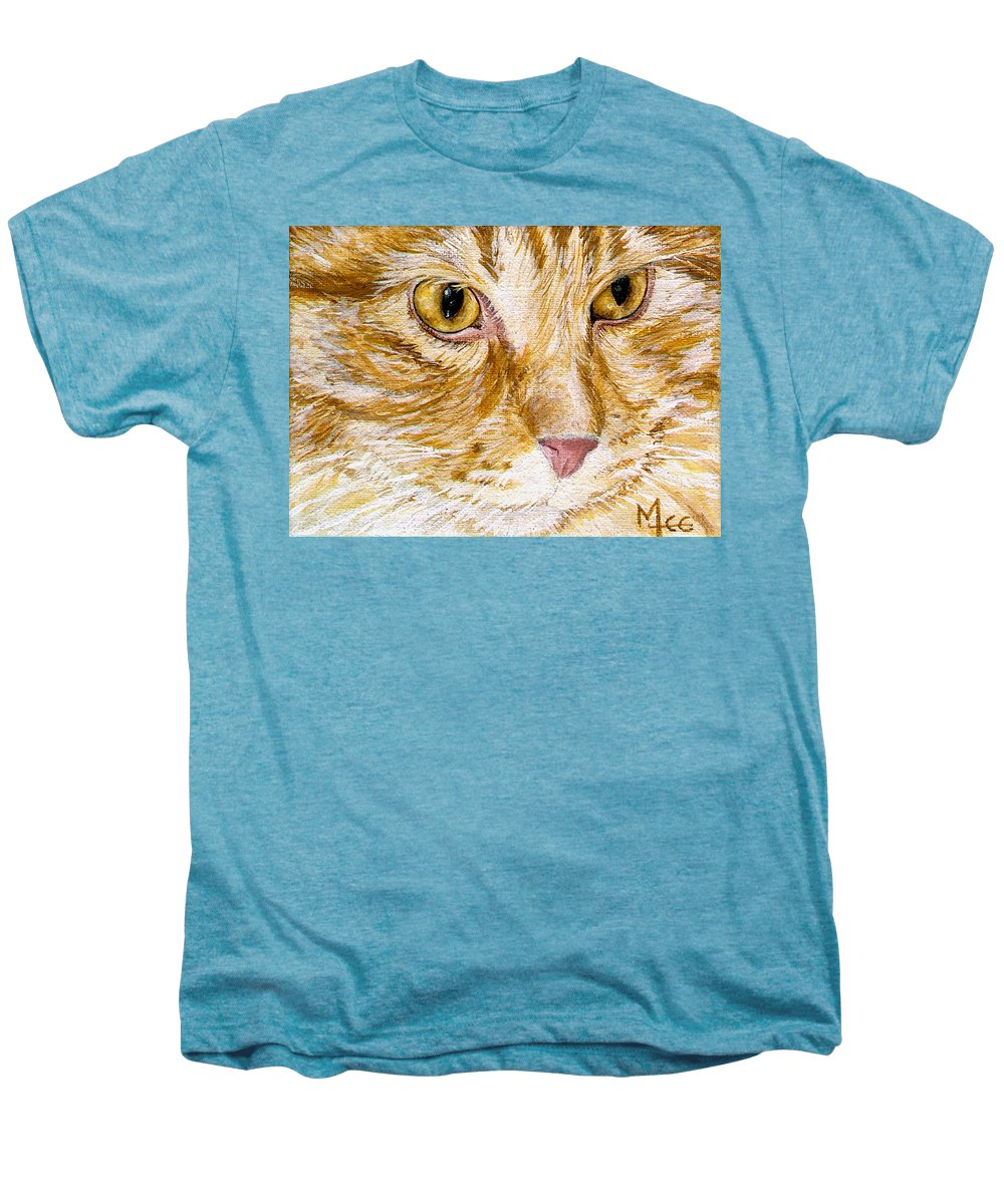 Charity Men's Premium T-Shirt featuring the painting Leo by Mary-Lee Sanders