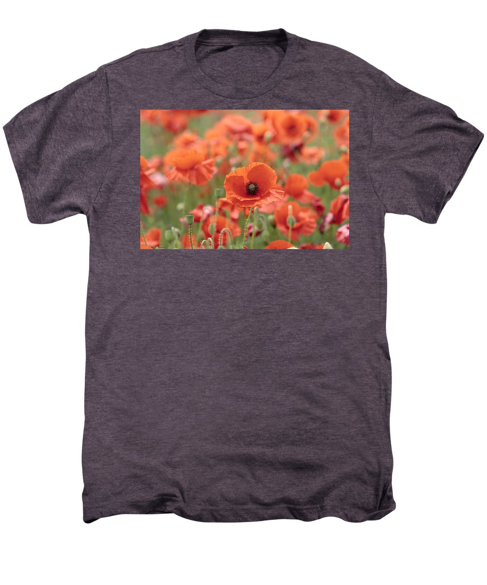 Poppy Men's Premium T-Shirt featuring the photograph Poppies H by Phil Crean