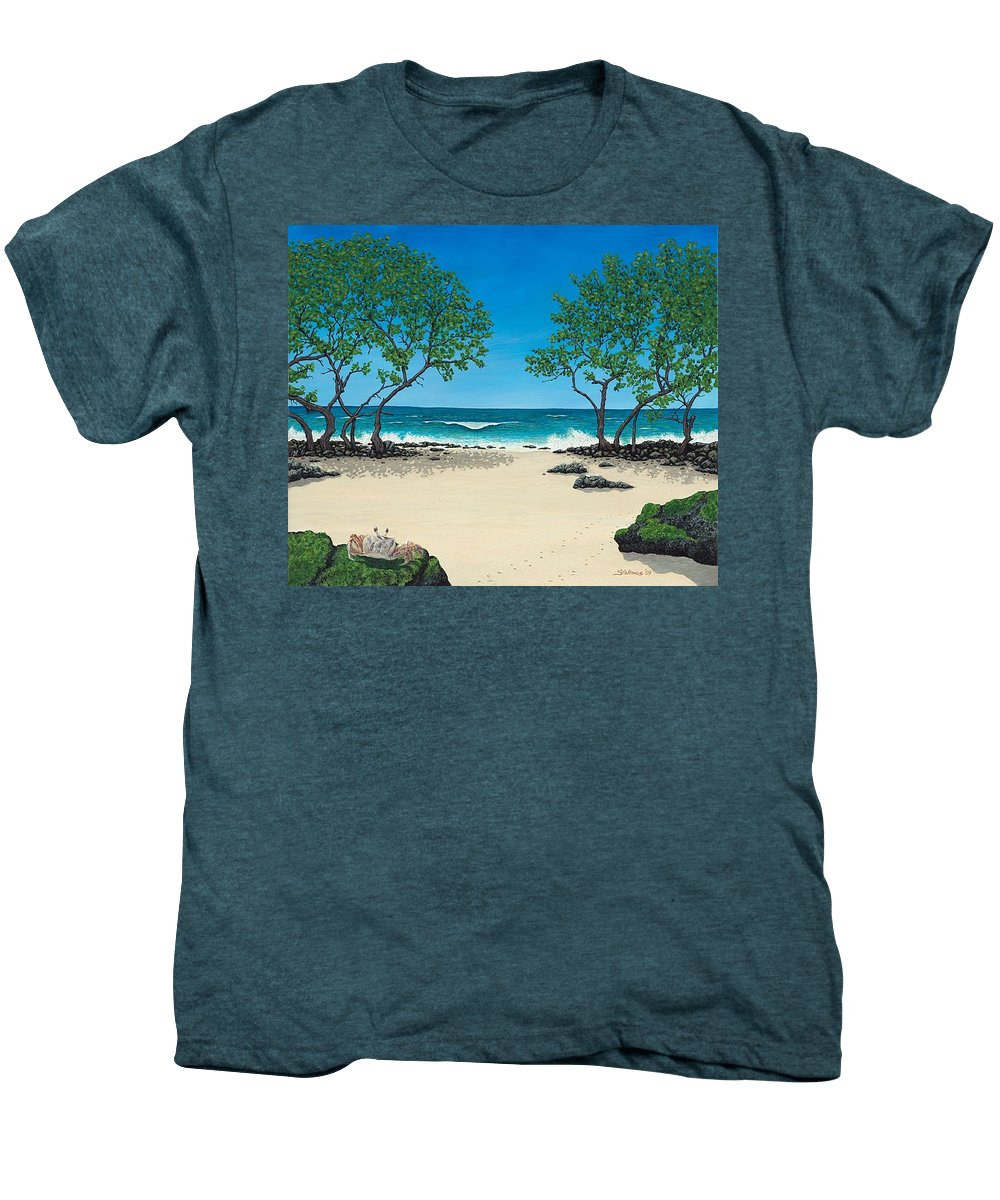 Ocean Men's Premium T-Shirt featuring the painting Where Is My Corona by Shawn Stallings