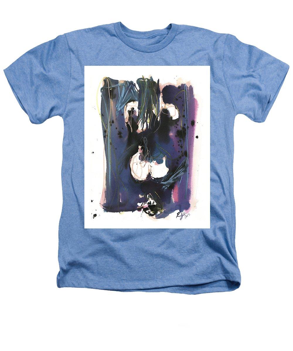 Figure Heathers T-Shirt featuring the painting Kneeling by Robert Joyner