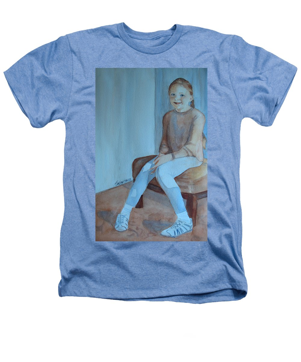 Girl Heathers T-Shirt featuring the painting Sneakers II by Jenny Armitage