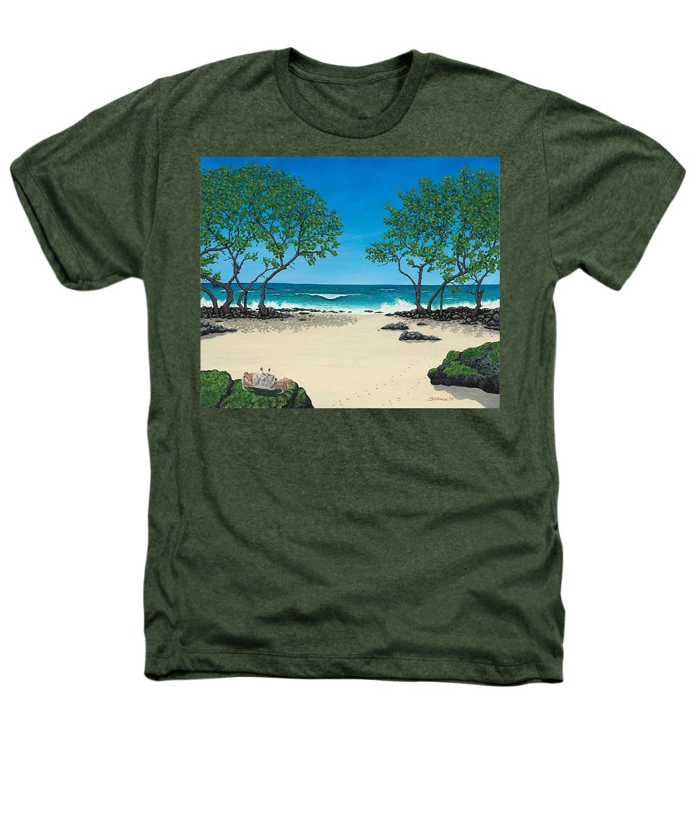 Ocean Heathers T-Shirt featuring the painting Where Is My Corona by Shawn Stallings