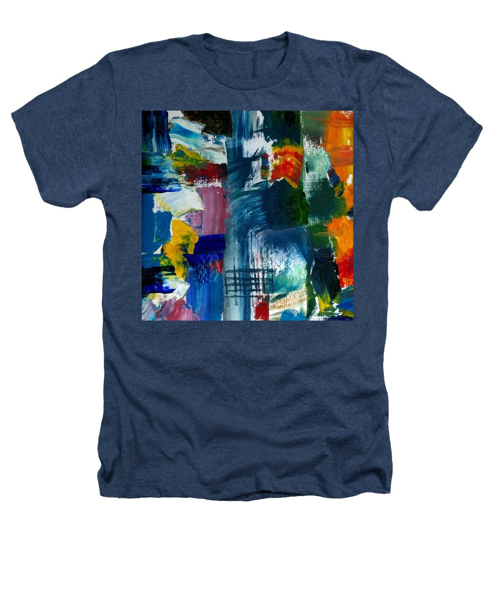 Abstract Collage Heathers T-Shirt featuring the painting Abstract Color Relationships L by Michelle Calkins