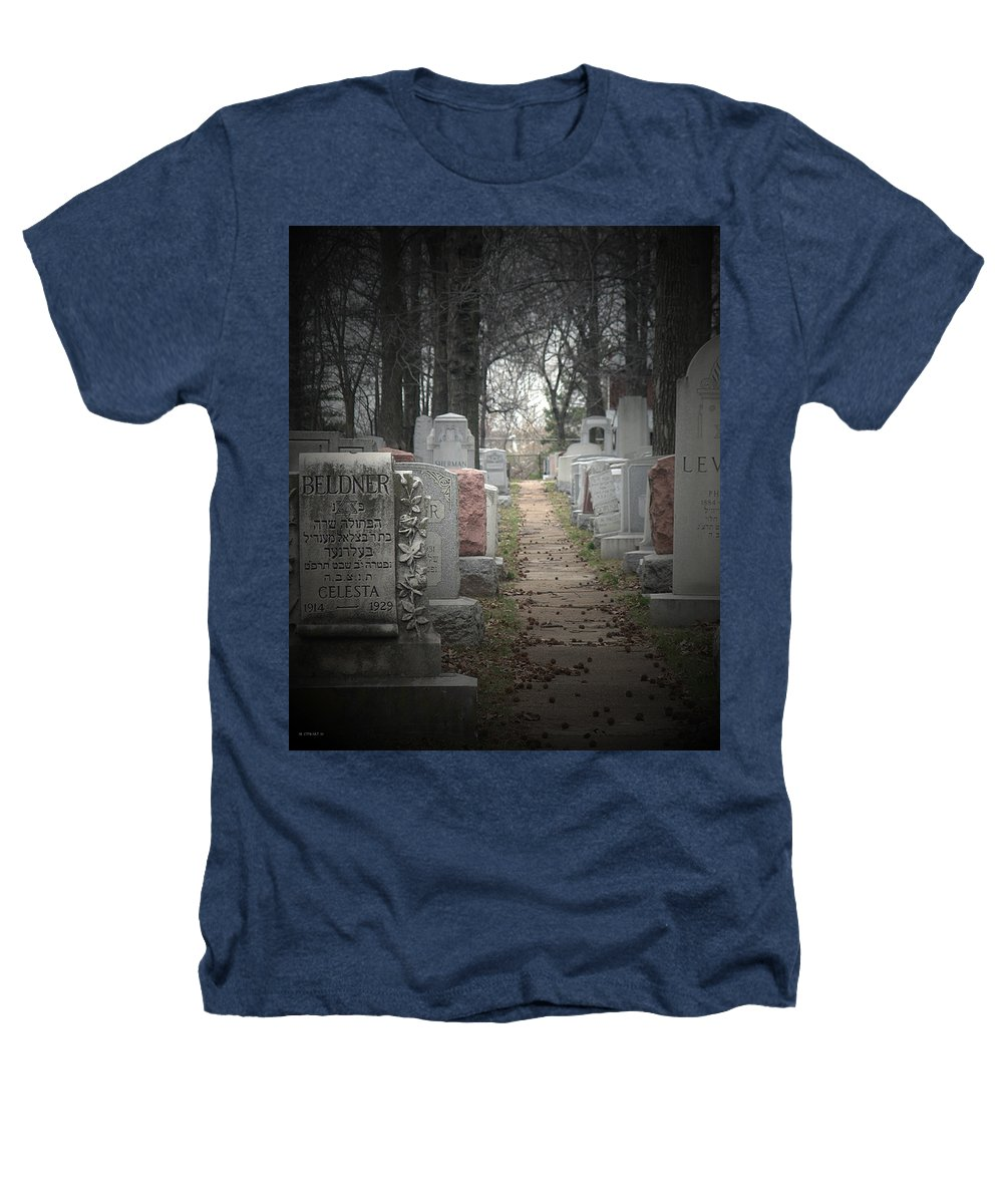 Cemetary Heathers T-Shirt featuring the photograph Closure by Albert Stewart