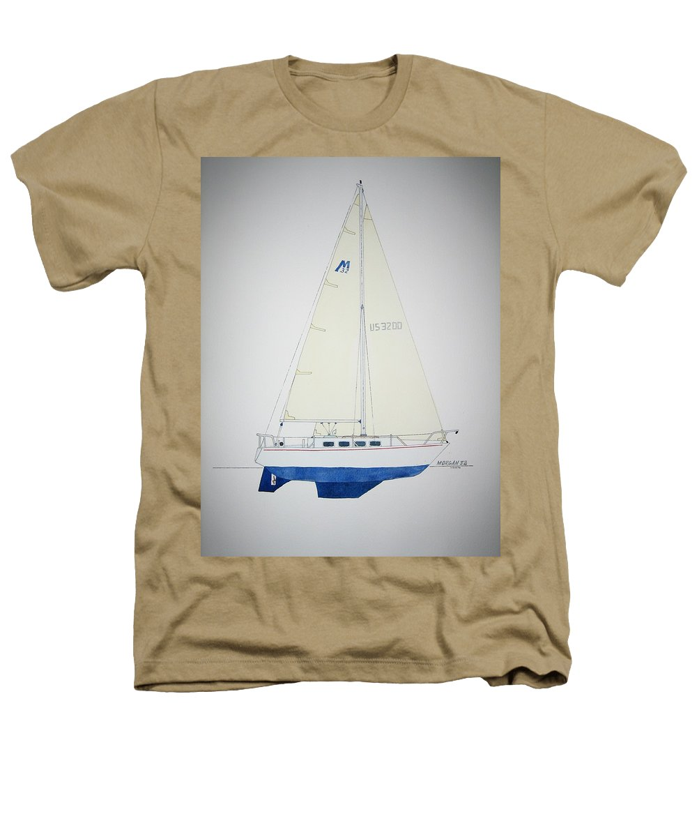 Sail Sailboat Ocean Sea Morgan Boat Nautical Yacht Heathers T-Shirt featuring the painting Morgan 32 by Jeff Lucas