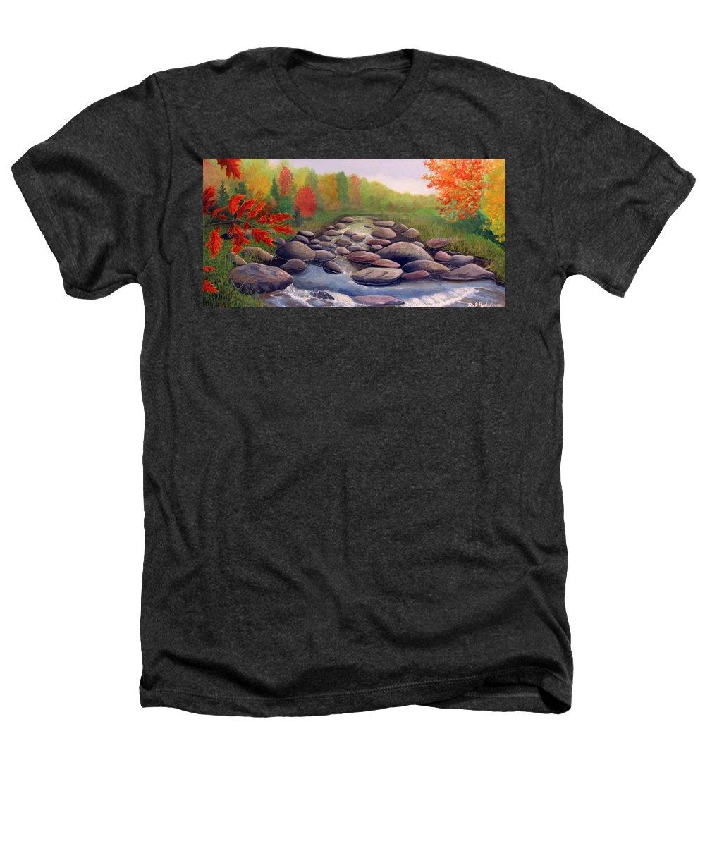 Rick Huotari Heathers T-Shirt featuring the painting Cherokee Park by Rick Huotari