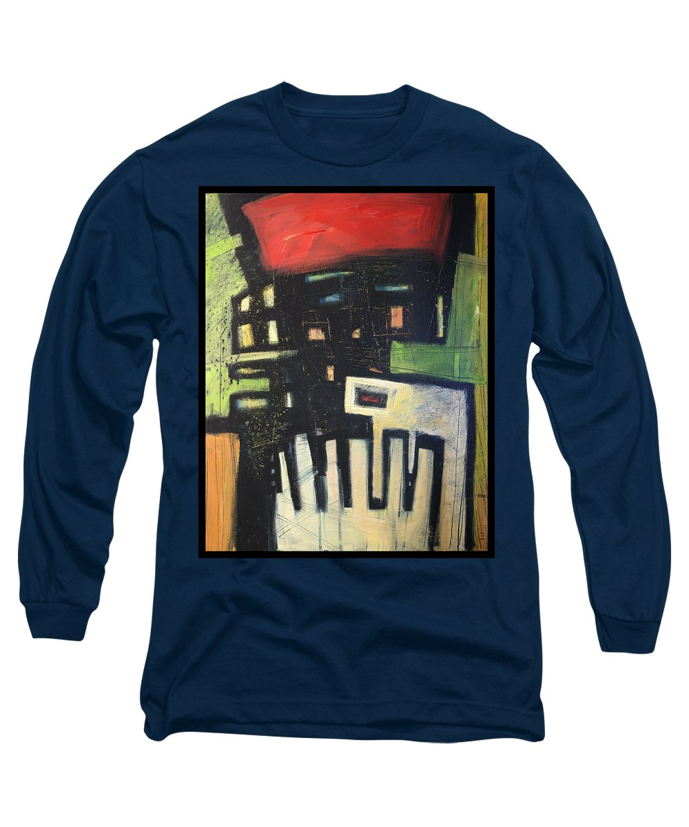 Abstract Long Sleeve T-Shirt featuring the painting D Flat by Tim Nyberg