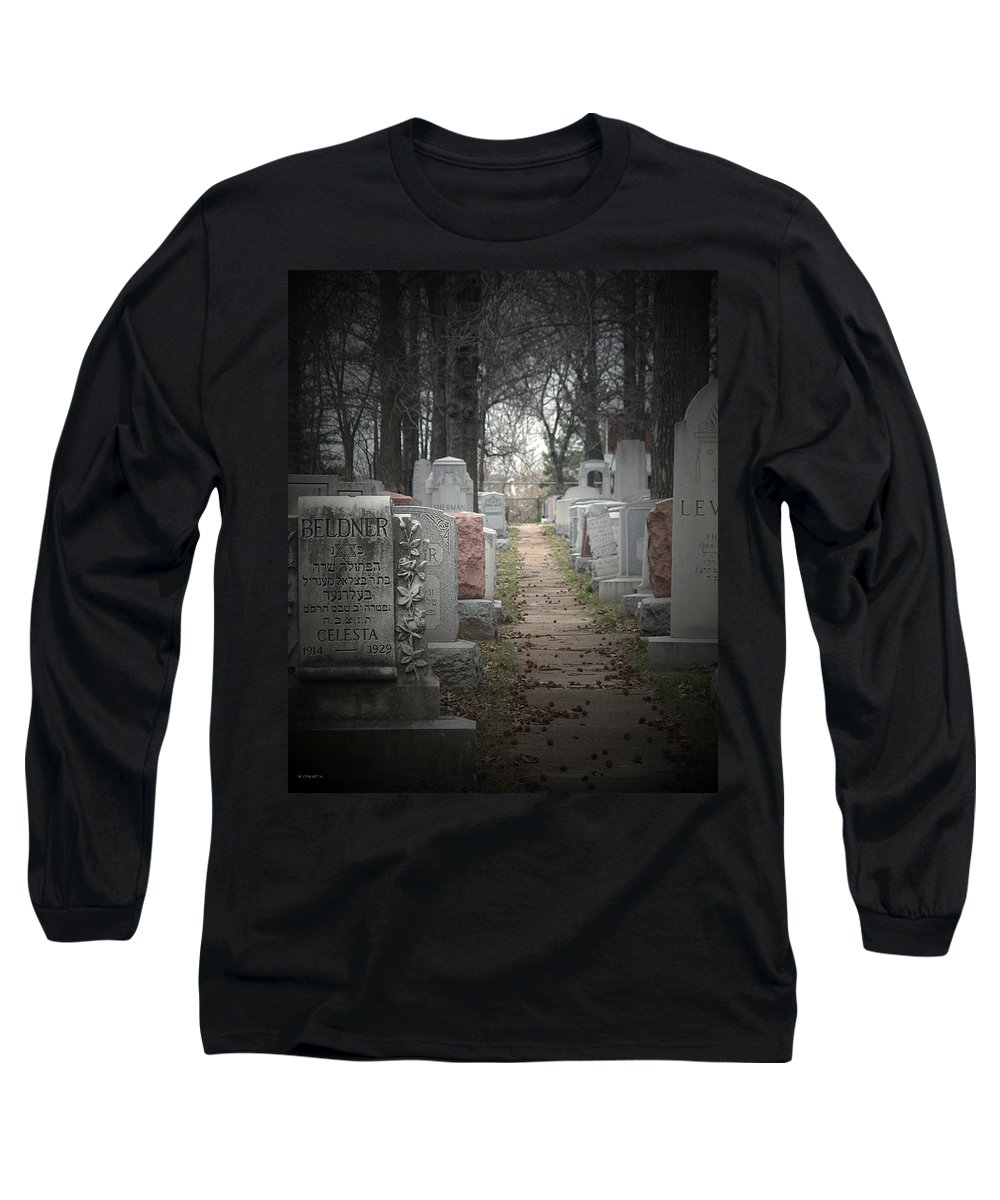 Cemetary Long Sleeve T-Shirt featuring the photograph Closure by Albert Stewart
