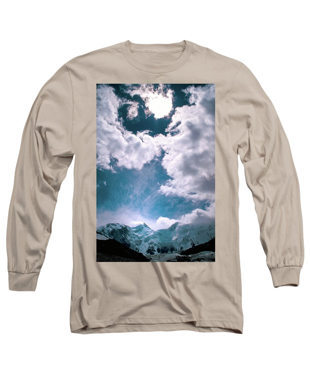 Alone Long Sleeve T-Shirt featuring the photograph Sacred Belukha by Konstantin Dikovsky