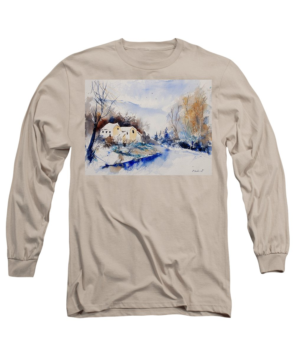 Winter Long Sleeve T-Shirt featuring the painting Watercolor 080408 by Pol Ledent